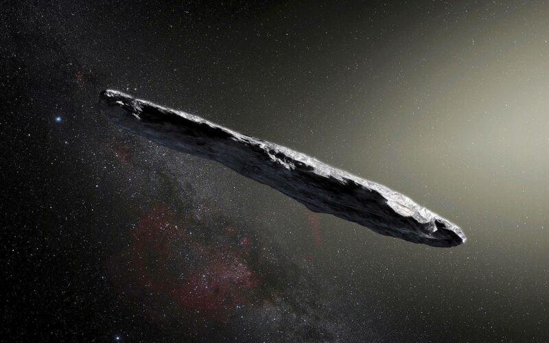 Taiteilijan näkemys lokakuussa 2017 havaitusta 'Oumuamuasta.