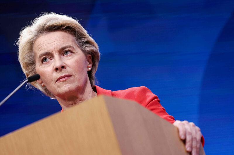 EU-komission puheenjohtajaUrsula von der Leyen Brysselissä 24. elokuuta 2021.