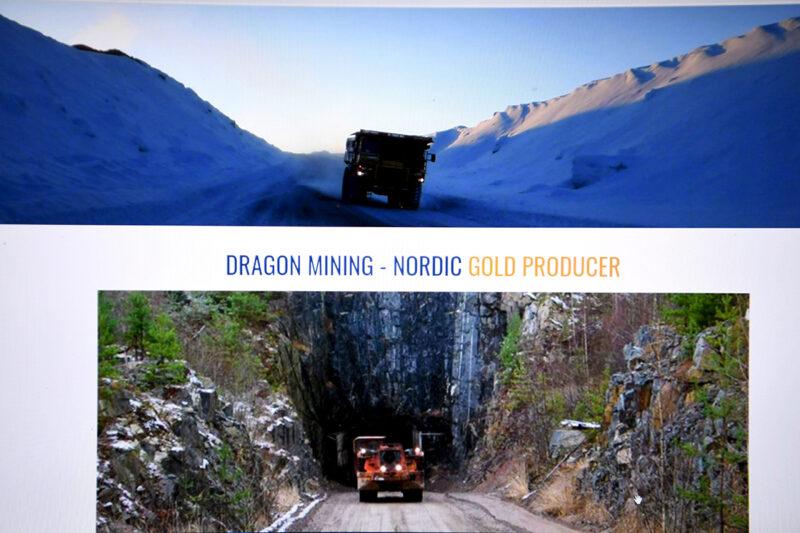 Dragon Mining kotisivut elokuussa 2021.