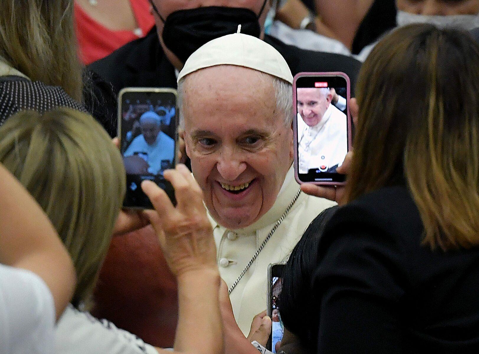 Paavi Franciscus Vatikaanissa 1. syyskuuta 2021.