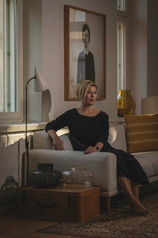 Danske Bankin tutkimusjohtaja Heidi Schauman asuu Helsingin Töölössä.