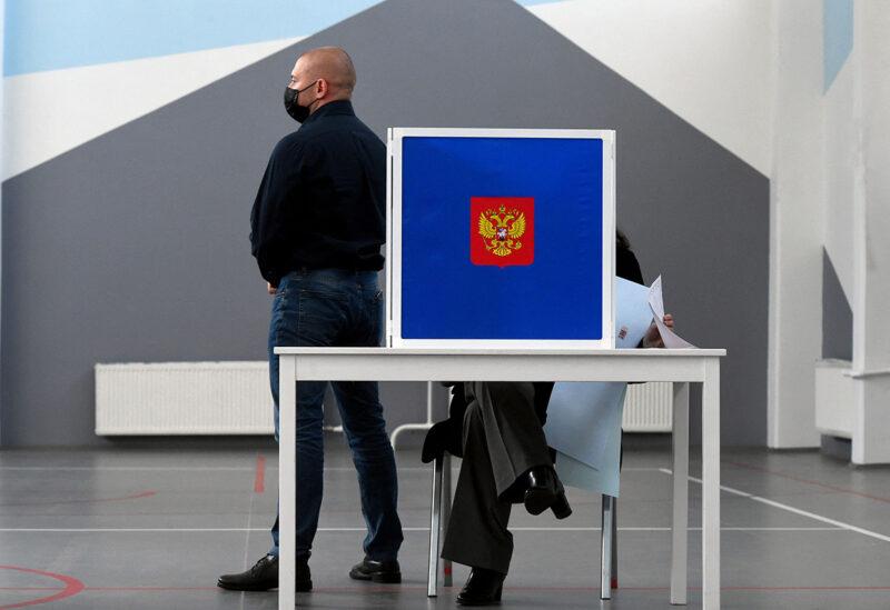 Äänestyspaikka Pietarissa 19. syyskuuta.