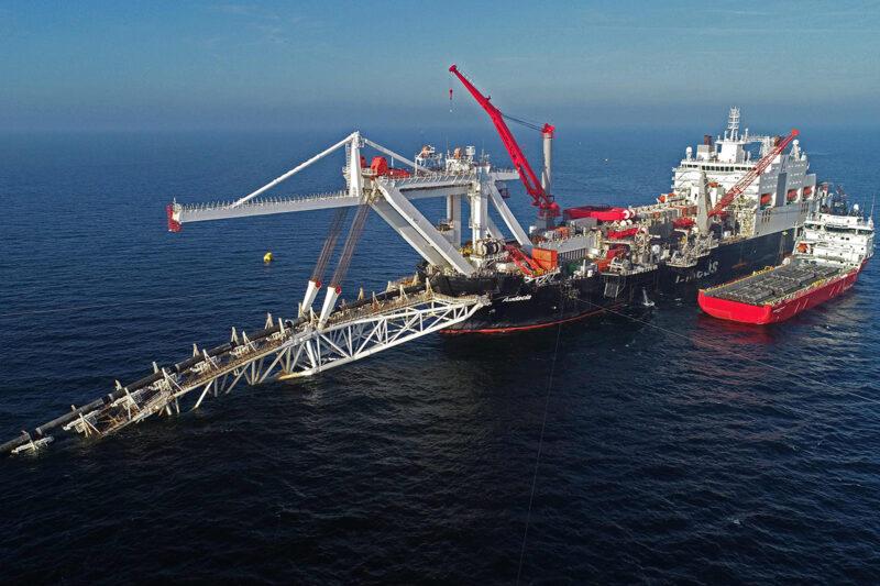 Nord Stream 2 -kaasuputkea asennettiin Saksan edustalla marraskuussa 2018.