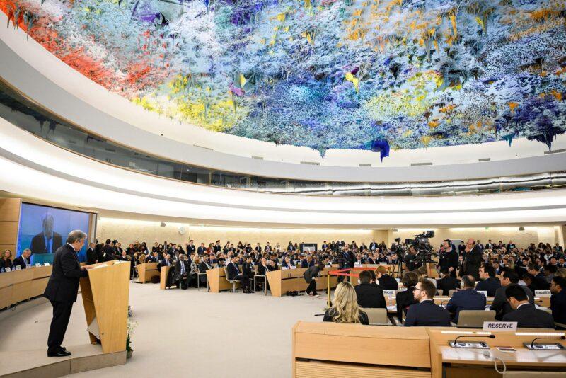 YK:n ihmisoikeusneuvosto kokoontui Genevessä 25. helmikuuta 2019.