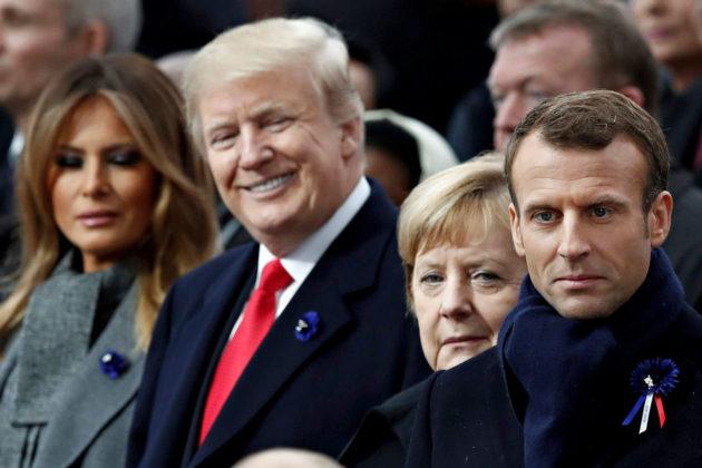 ENSIMMÄISEN maailmansodan päättäneen aseleposopimuksen allekirjoittamisesta tuli kuluneeksi 11. marraskuuta sata vuotta. Suurvaltojen jännitteet näkyivät, kun Yhdysvaltain presidentti Donald Trump, Saksan liittokansleri Angela Merkel ja Ranskan presidentti Emmanuel Macron seurasivat Venäjän presidentin Vladimir Putinin saapumista seremoniaan Pariisissa. Saksan ja Ranskan presidentit varoittivat puheissaan nationalismin, rasismin ja ääriajattelun noususta.