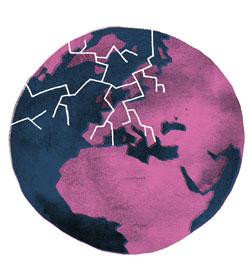 euroopan piirretty kartta