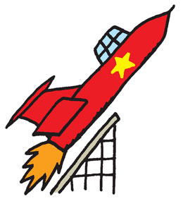 symbolikuva raketista