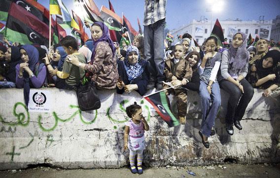libyalaiset juhlivat vapautusta