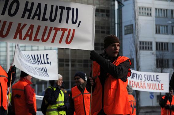 Finnair mielenosoitus
