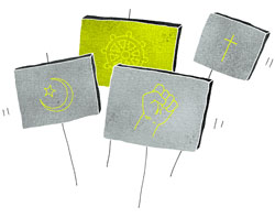 uskontoja kuvaava symbolikuva