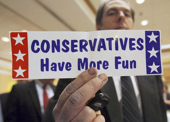 konservatiiveilla on hauskempaa