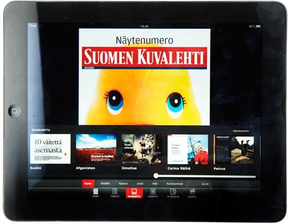 Suomen Kuvalehti iPad