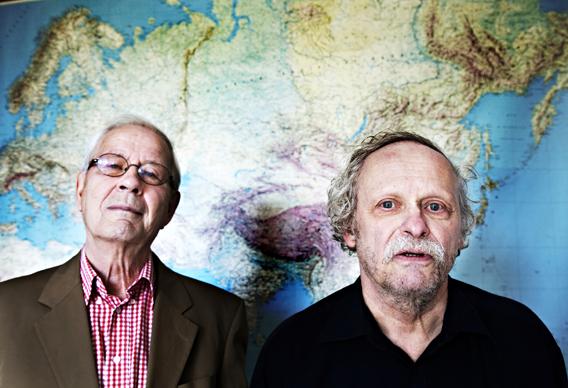 Esa Seppänen (vas.) ja Ilmari Suosiluoto