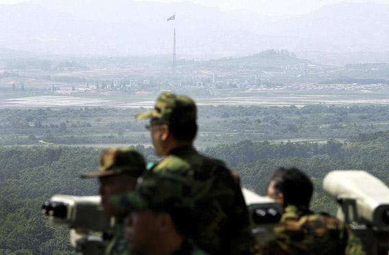Eteläkorealaisia sotilaita