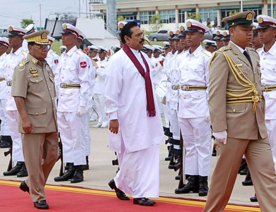 Sri Lankan presidentti Myanmarissa