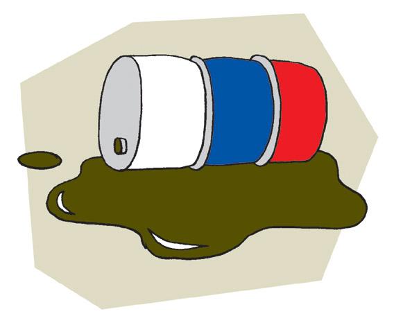 Öljytynnyri Venäjän lipun väreissä