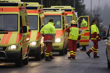 Ambulansseja Jokelassa