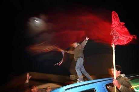 Juhlintaa Podujevassa Kosovossa