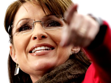 Republican vice presidential candidate, Alaska Gov. Sarah Palin speaks to a crowd during a rally at the Bass Pro Shop in Springfield, Mo. Friday, Oct. 24, 2008.
