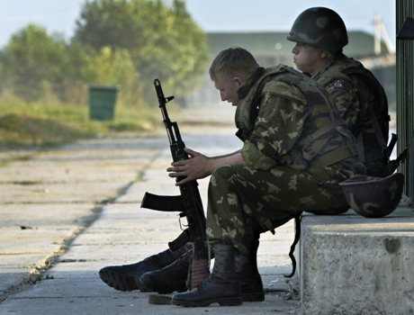 Venäläissotilaita Senakissa Georgiassa