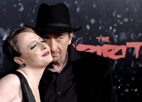 "Frank Miller, right, writer/director of ""The Spirit,"" poses with Lynn Varley at the premiere of the film in Los Angeles, Wednesday, Dec. 17, 2008. (AP Photo/Chris Pizzello)"