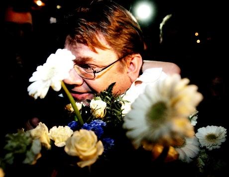 Timo Soini perussuomalaisten vaalivalvojaisissa ravintola Zetorissa Helsingissä 26. lokakuuta 2008.
