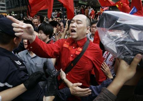 mielenosoittaja hong kongissa