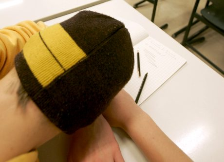 Masentunut oppilas. Kuva Vesa Moilanen / Lehtikuva