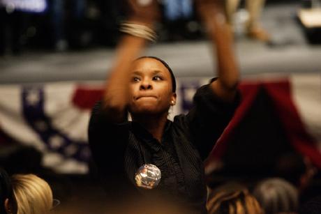 Obaman kannattaja Etelä-Carolinassa.