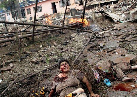 Haavoittunut Gorin kaupungissa